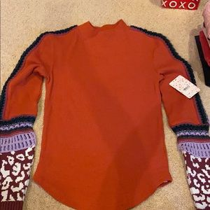 Brand new Free People Mock neck thermal